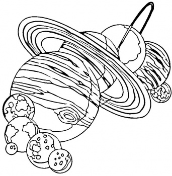 342x350 Solar System Coloring Page Solar Systemspace