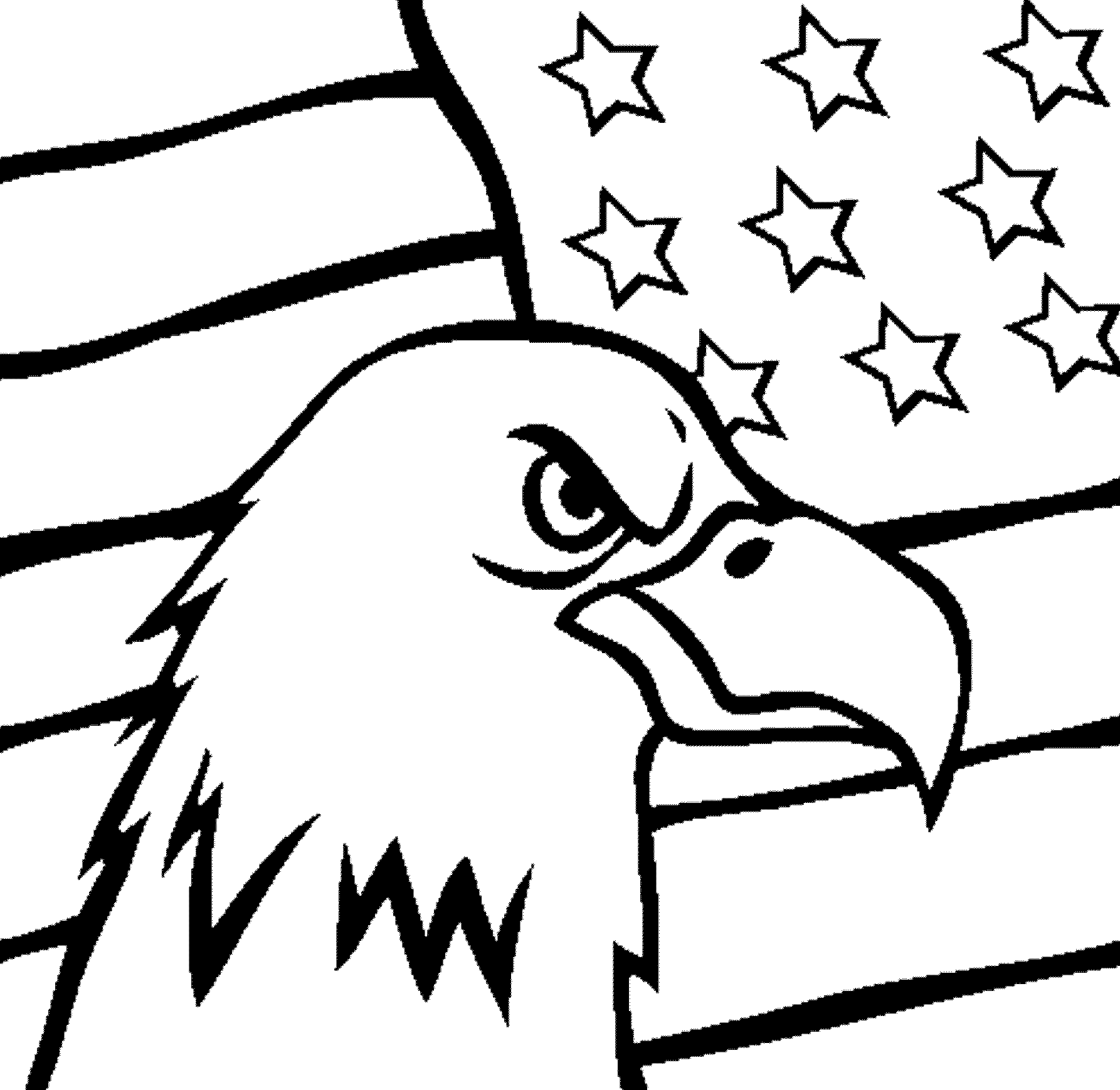 1786x1739 American Flag Coloring Page For The Love Of The Country