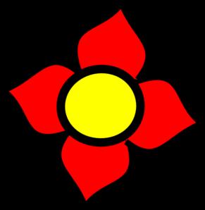 291x298 Flower Red Clip Art