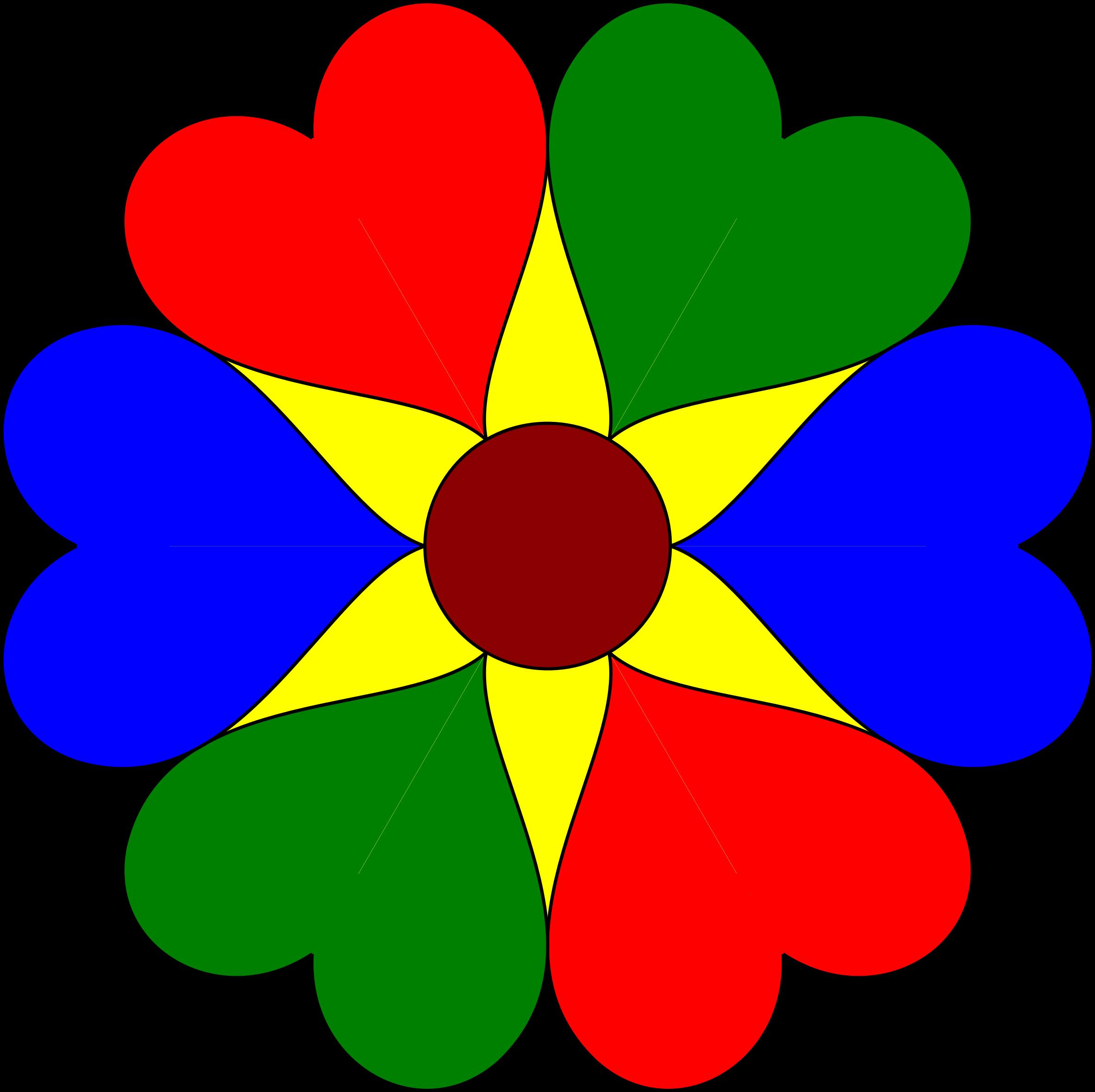 2365x2358 Flower Clipart Six