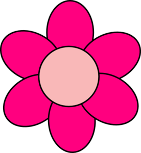 276x300 Pink Flower Clipart Flower Petal