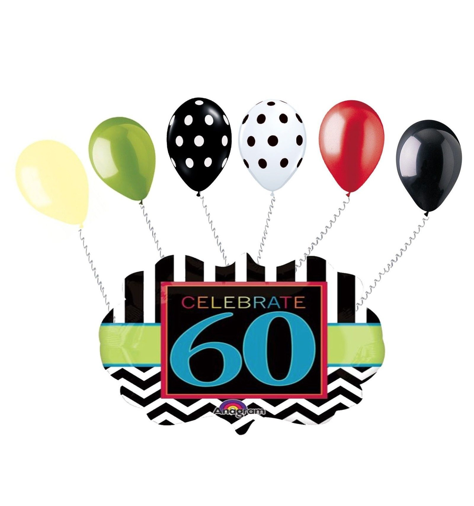 1600x1710 60th Birthday Party Balloons 60sixty Adult Party Supplies