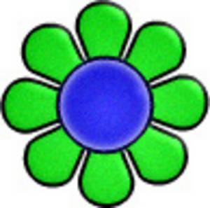 300x297 60s Flower Clipart