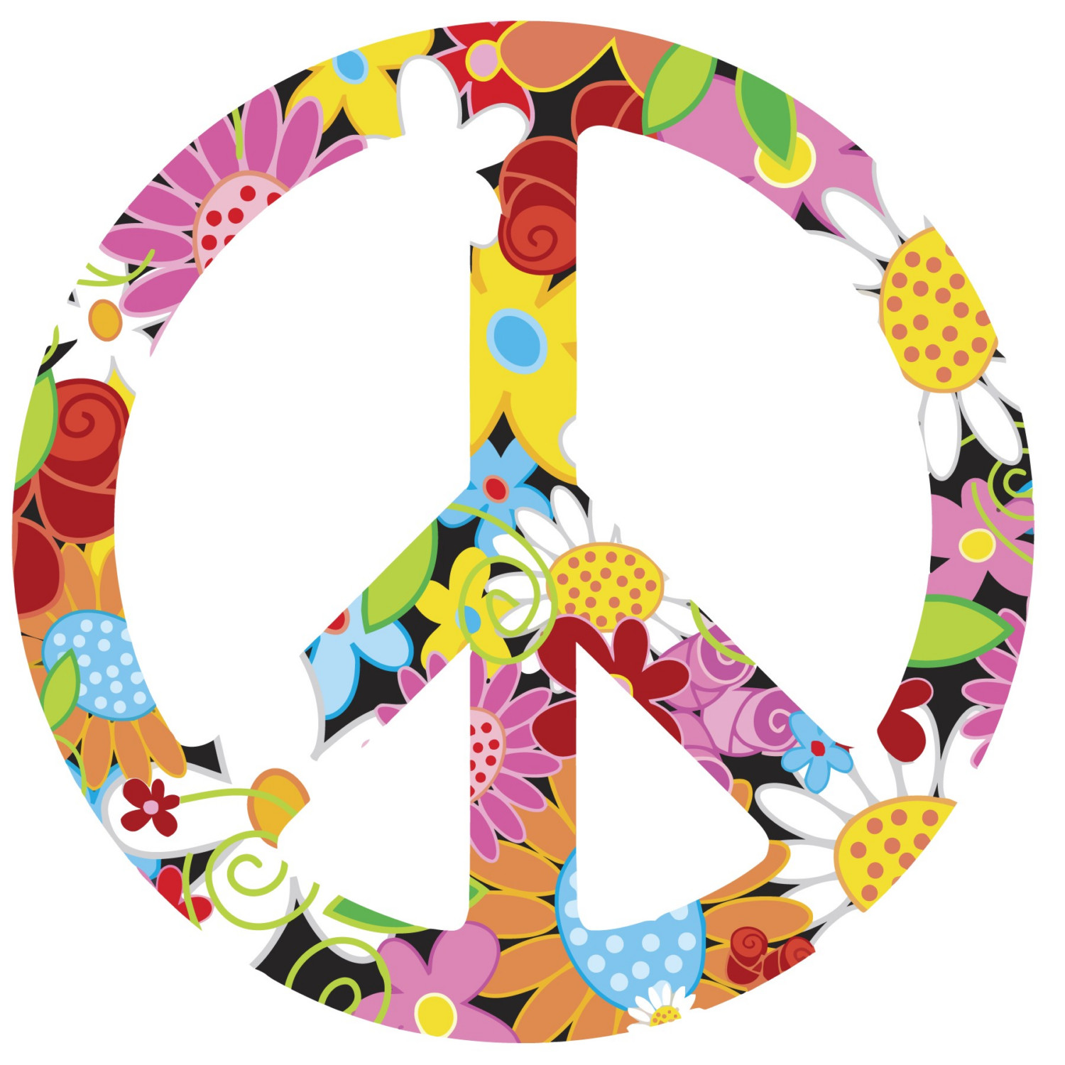 1500x1500 60s Peace Sign Clipart