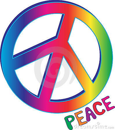 397x450 60s Peace Sign Clipart