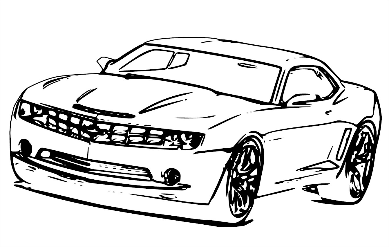 1341x851 Camaro Coloring Pages