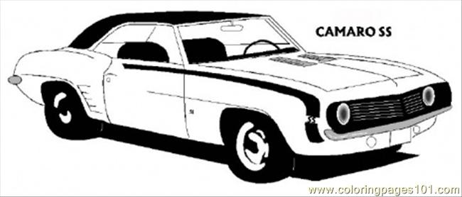 650x278 Camaro Coloring Pages