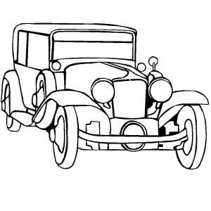300x300 Classic Noble Car Transportation Coloring Pages
