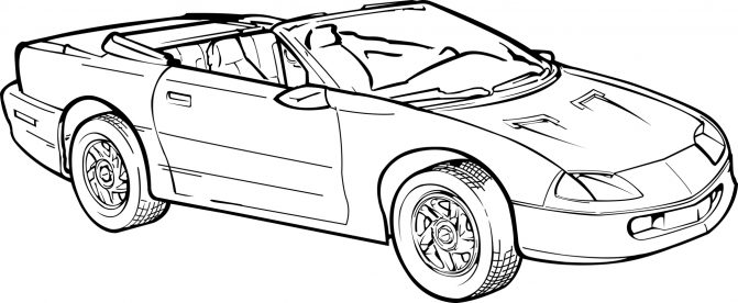 671x276 Coloring Pages Fabulous Camaro Coloring Pages Car Chevrolet