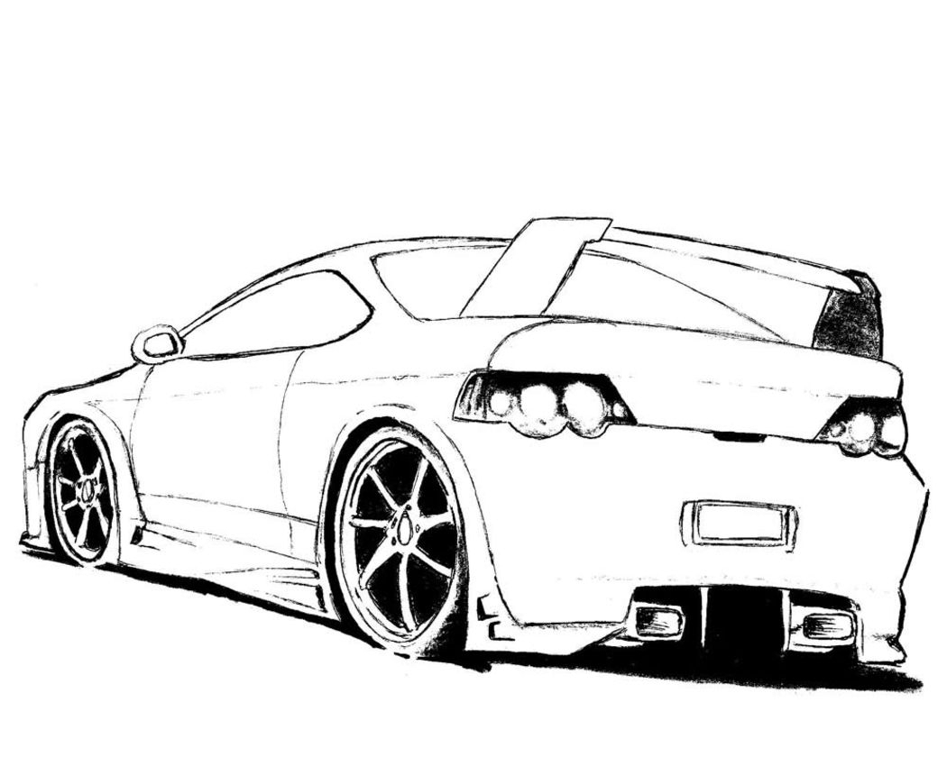 1050x840 Coloring Pages Of Car Crashes Tesla Model S Page Free