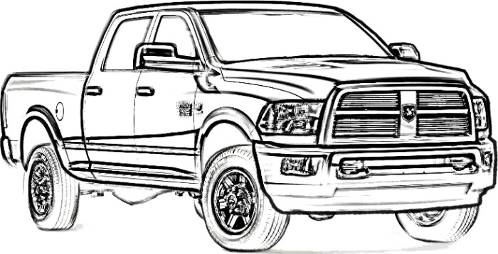 700x358 Dodge Longhorn Truck Coloring Page Teacher Stuff