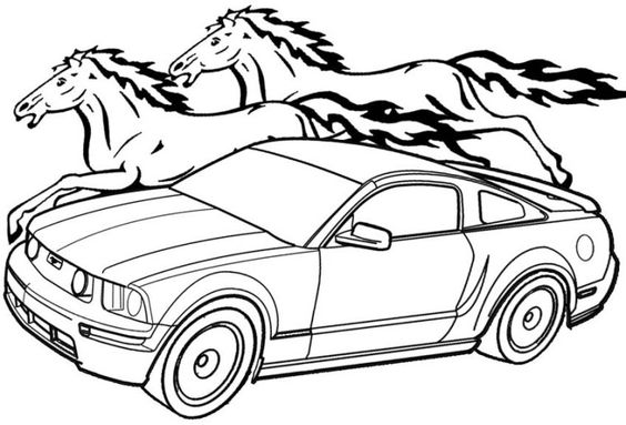 564x383 Mustang And Horse Coloring Pages Mustangs Mustang