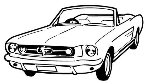 474x262 Mustang Car Coloring Pages Voiture Mustang Coloring Page