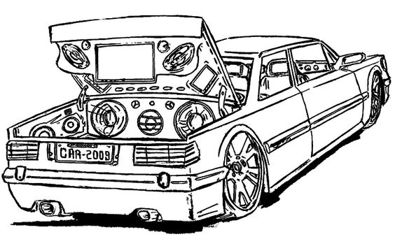 564x352 A Classic Pontiac Muscle Car Coloring Sheet For Kids
