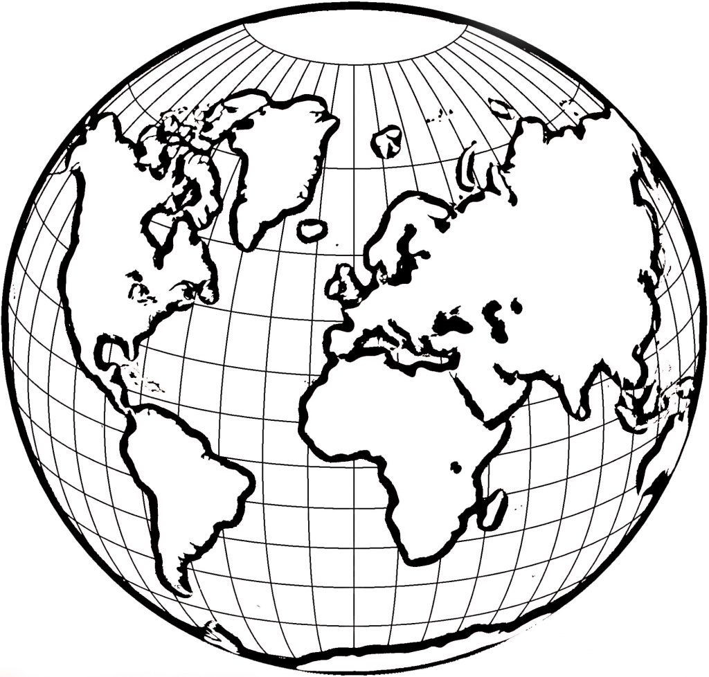 1024x978 Coloring Pages World Map The Continents Page Free Of Dezhoufs