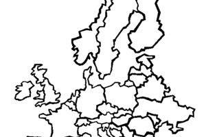 300x200 Pangea Continent Cut Outs Printable Puzzles, Coloring Page 7