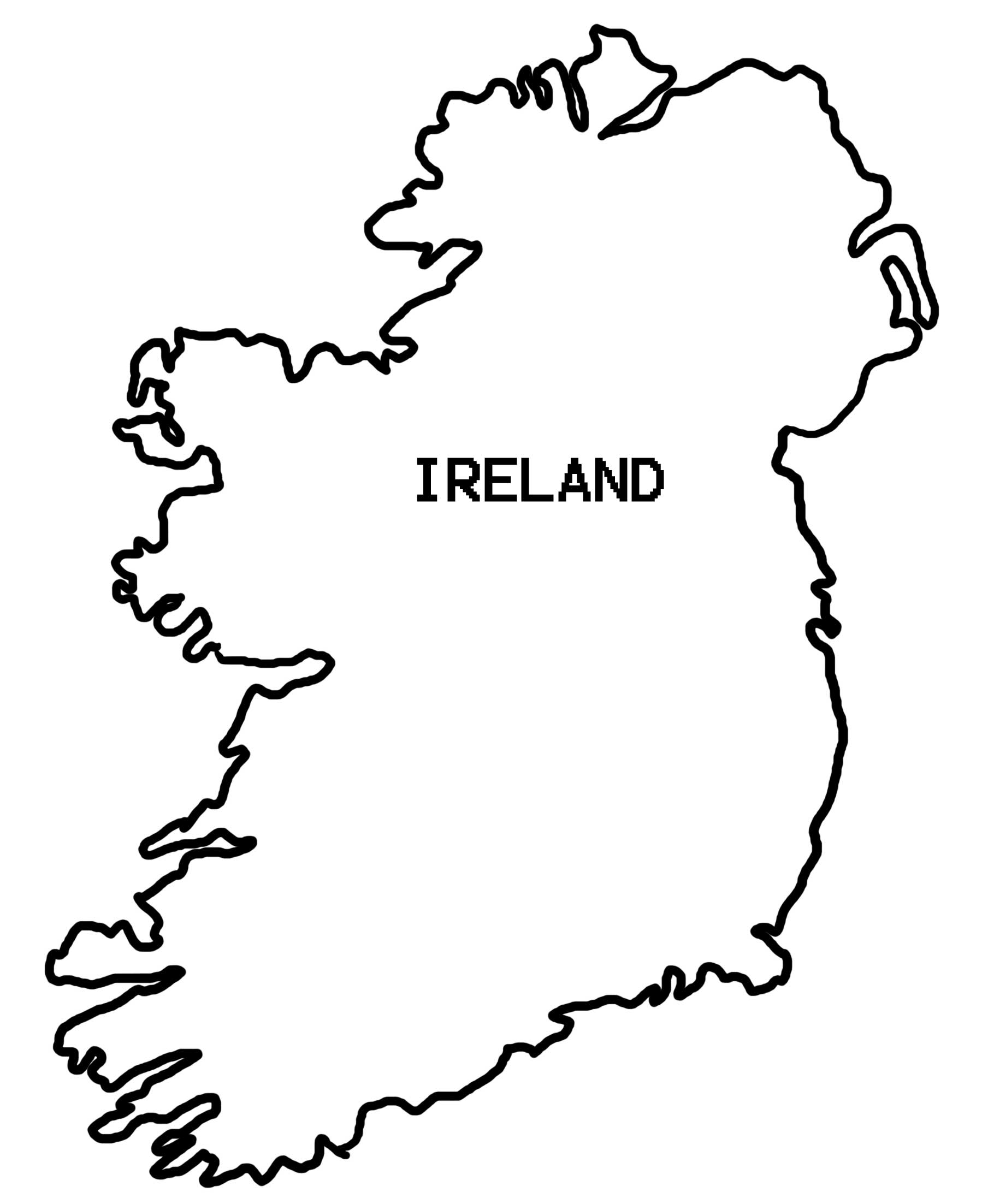 1798x2205 Simple Map Of Ireland
