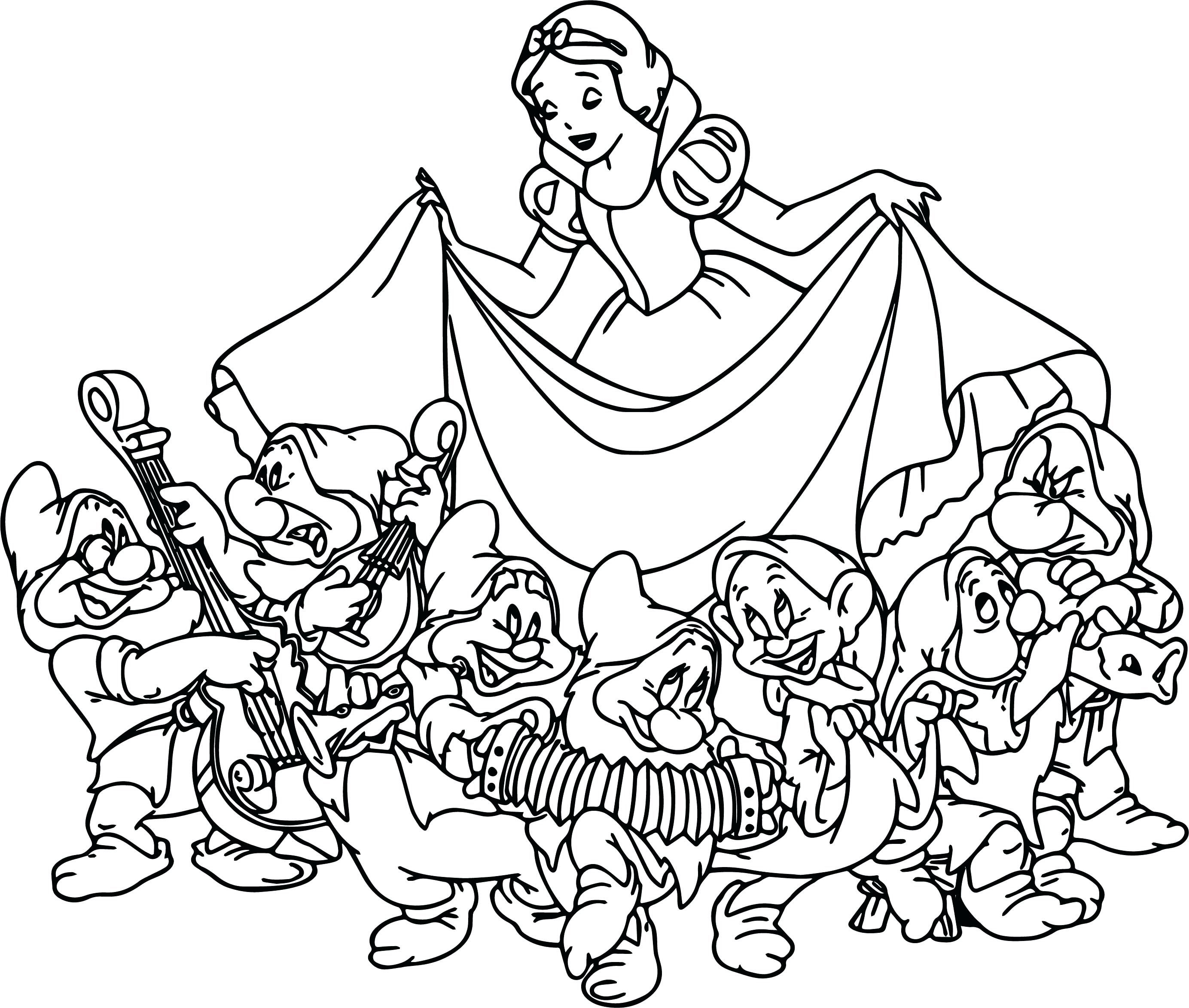 2768x2346 Snow White The Seven Dwarfs Coloring Page 153 Mesmerizing Pages
