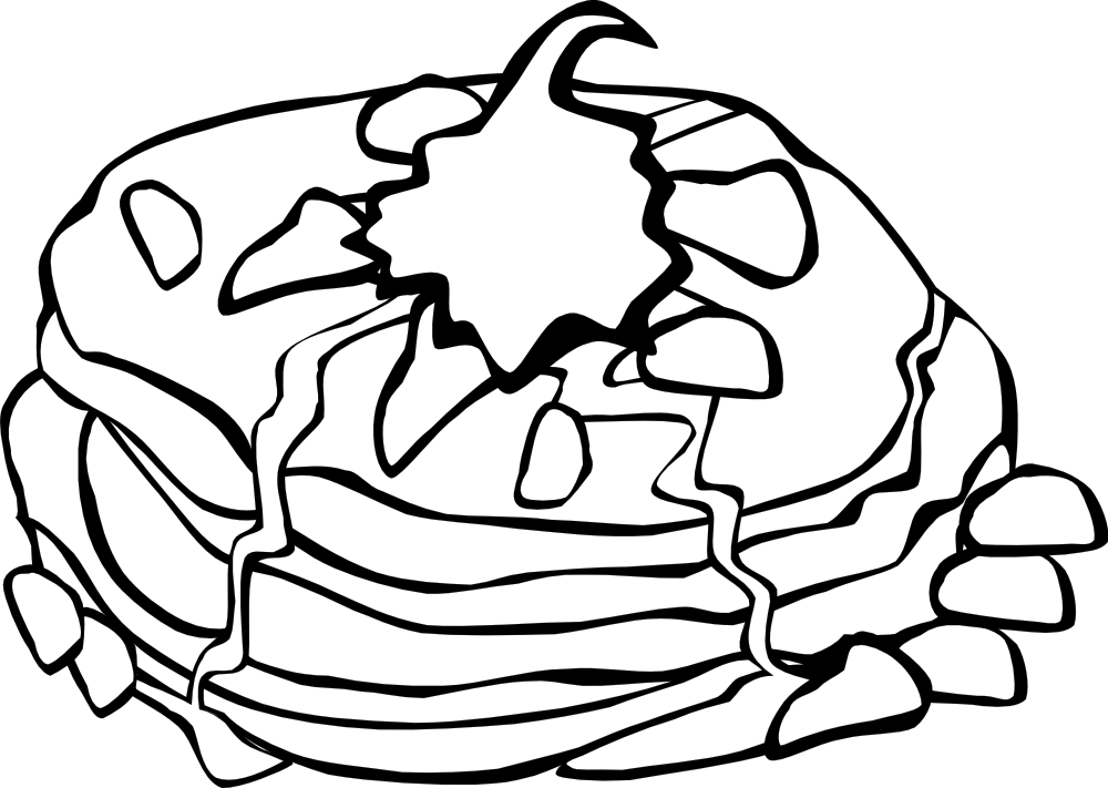 1000x711 Breakfast Clipart Coloring Page