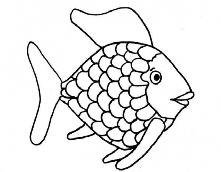 730x569 Kids Printable Rainbow Fish Coloring Page Free Creative Kids