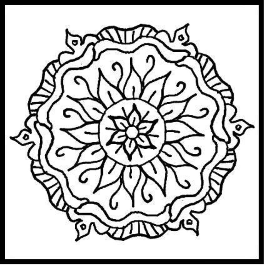851x850 Mandala Designs To Print
