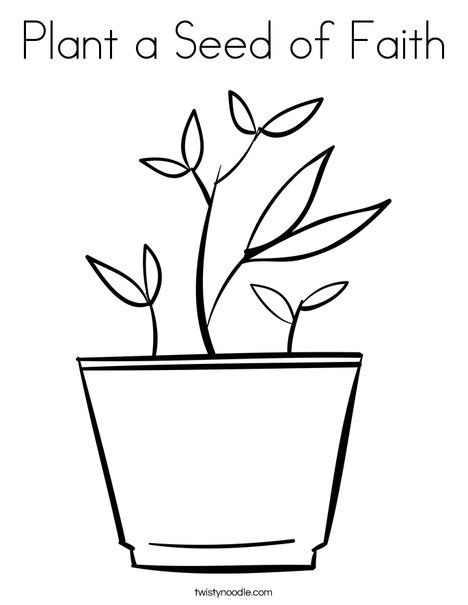468x605 Plant A Seed Of Faith Coloring Page