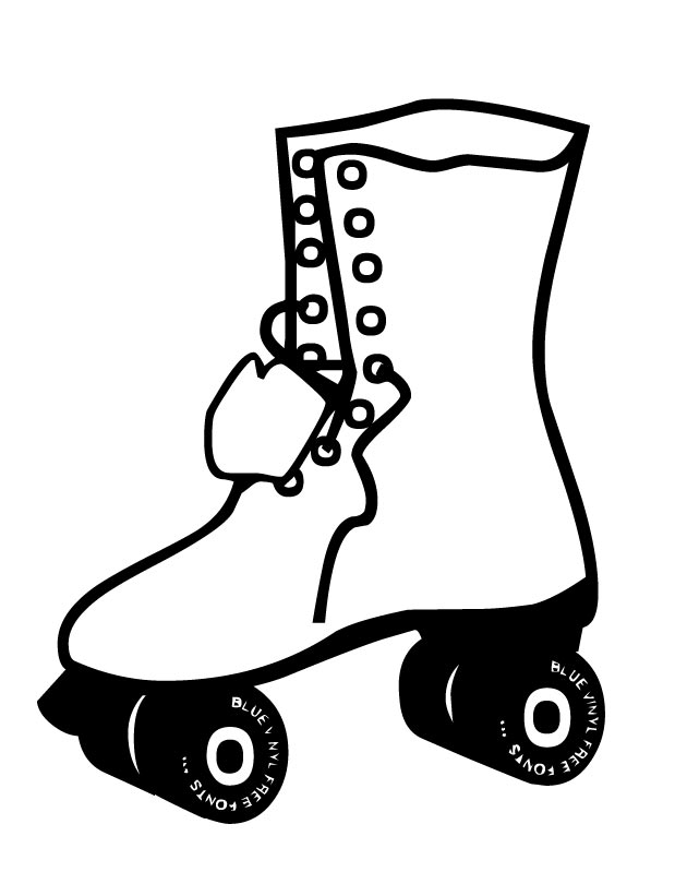 630x810 Printable Rollerblade (70s) Coloring Page