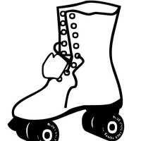 200x200 Rollerblade (70s) Coloring Page