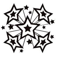 200x200 Star (70s) Coloring Page