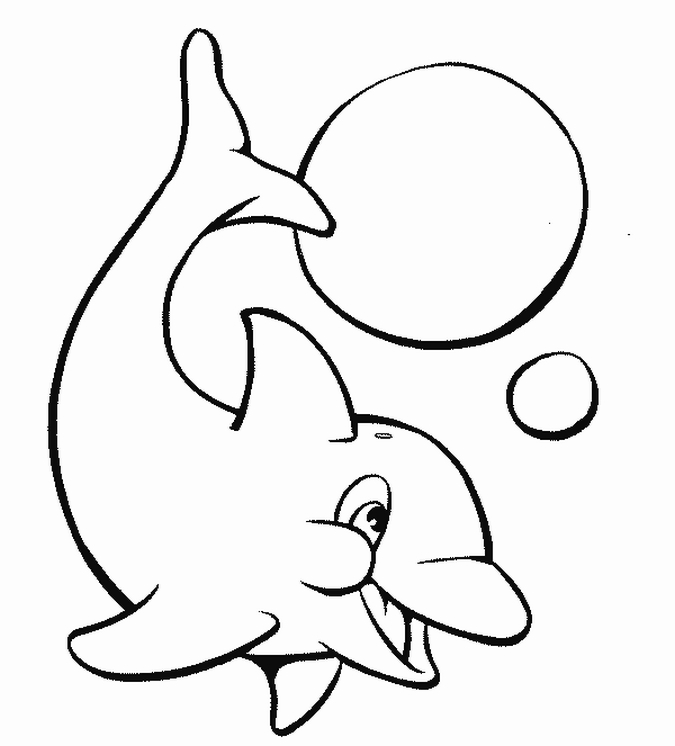 675x746 Very Cute Baby Dolphin Animal Coloring Pages Free Printable