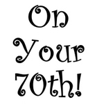 140x150 Free 70th Birthday Clip Art