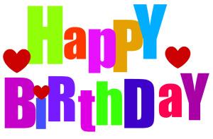 300x197 Free Happy Birthday Clip Art Images