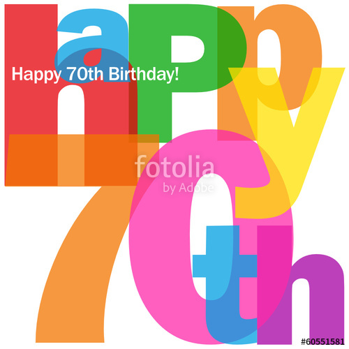500x500 Happy 70th Birthday Card (Seventy Party Celebration Congrats