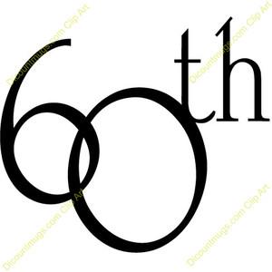 300x300 60th Birthday Clipart