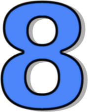 179x227 Number 8 Blue Clip Art Download