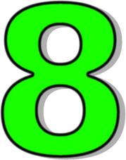 179x227 Number 8 Green Clip Art Download