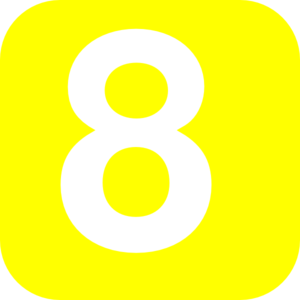 300x300 Number 8 Yellow Clip Art