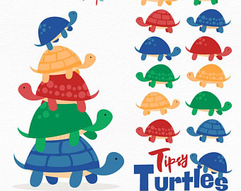 340x270 Cute Turtle Clipart Etsy