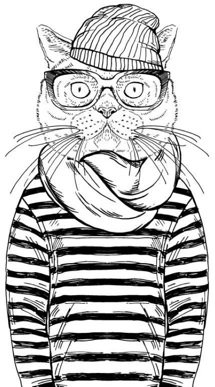 429x772 Best Coloring Books For Cat Lovers