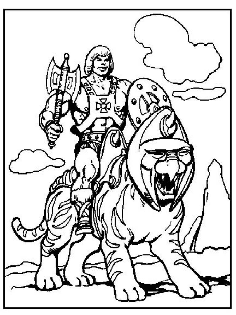 768x1024 He Man Coloring Pages 80s Cartoons Colouring Pages
