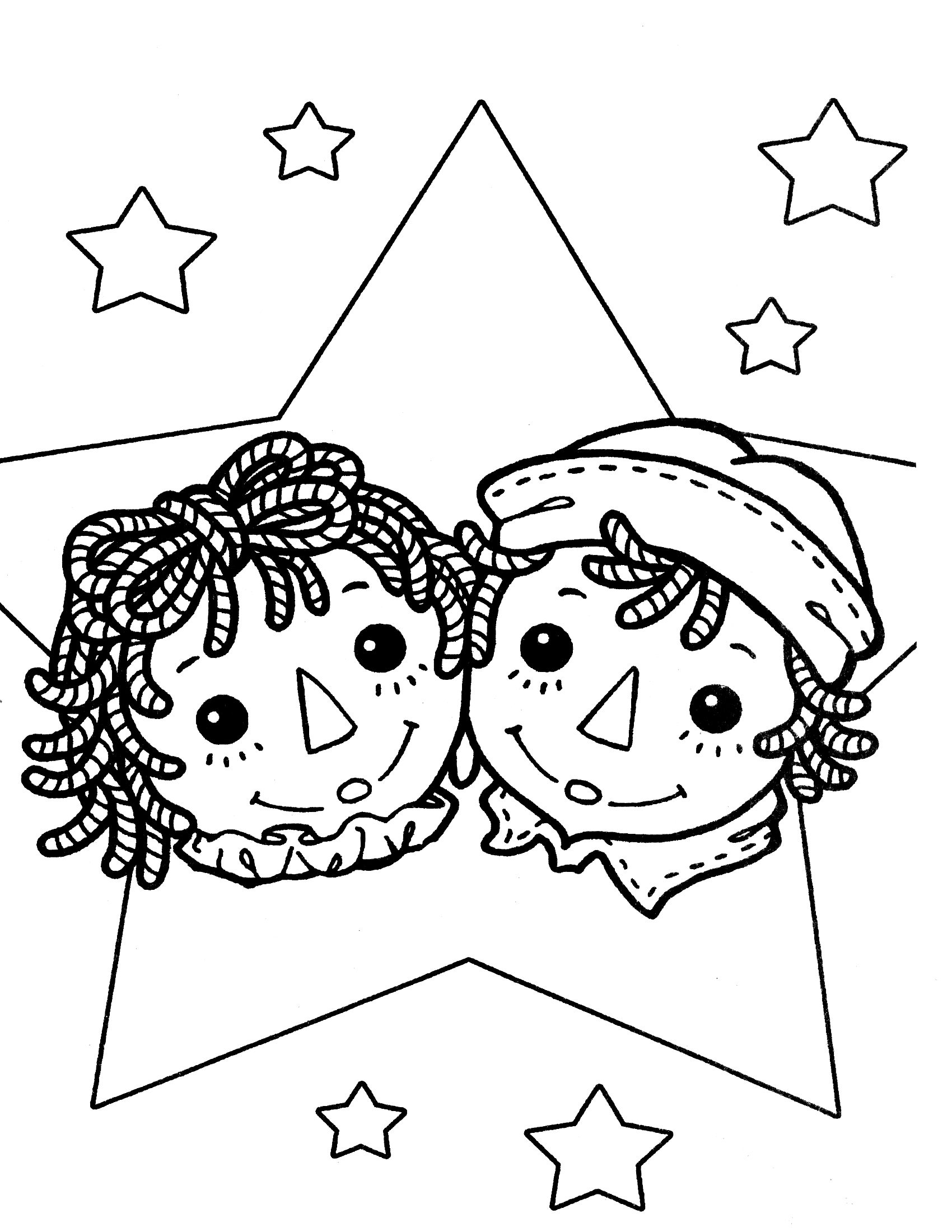 1700x2200 Raggedy Ann Coloring Pages Raggedy Ann Andy Coloring Page