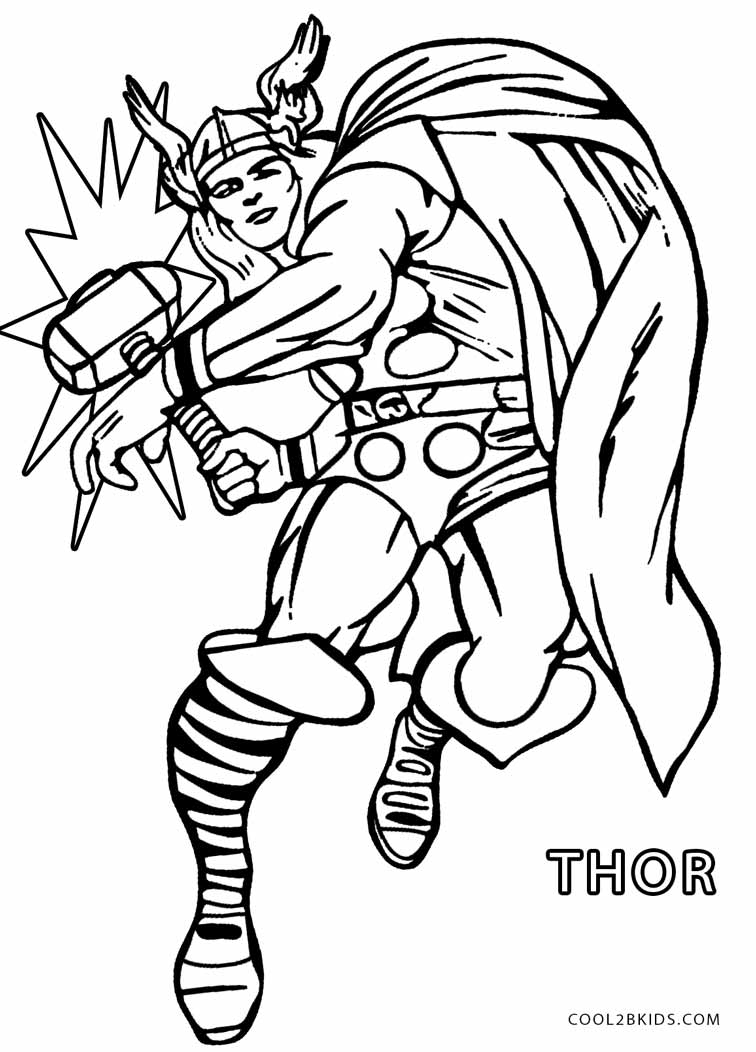 756x1052 Thor Coloring Pages