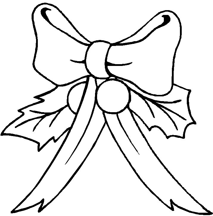 715x724 Bow Coloring Page