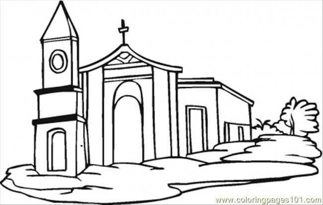 650x412 Church Coloring Pages Printable