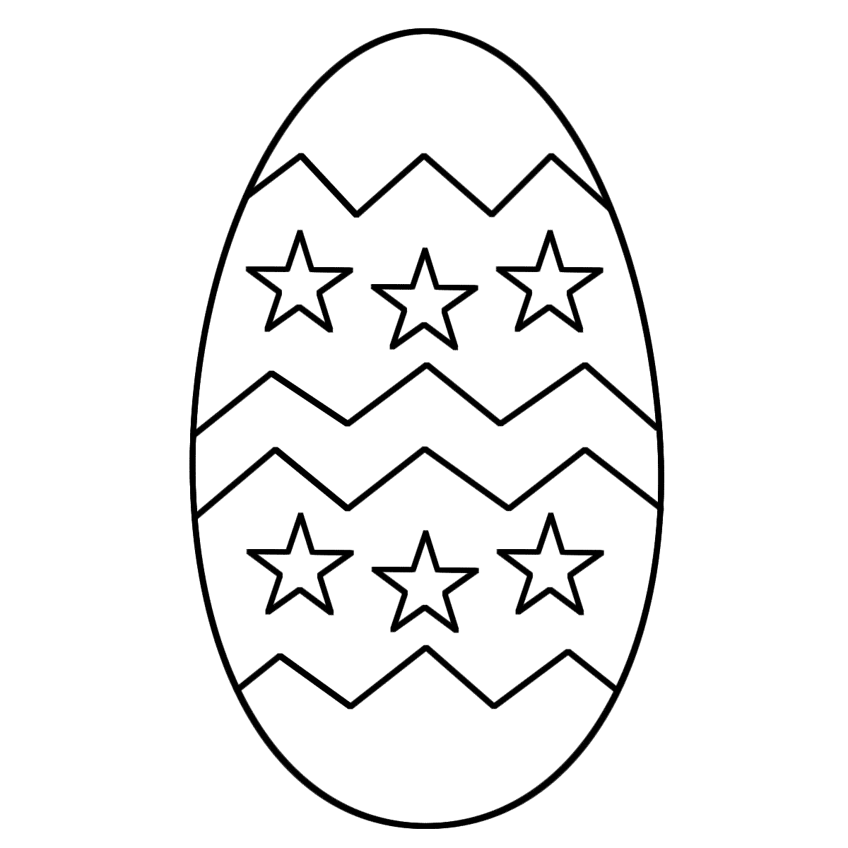 1200x1200 Egg Clipart Colouring Page