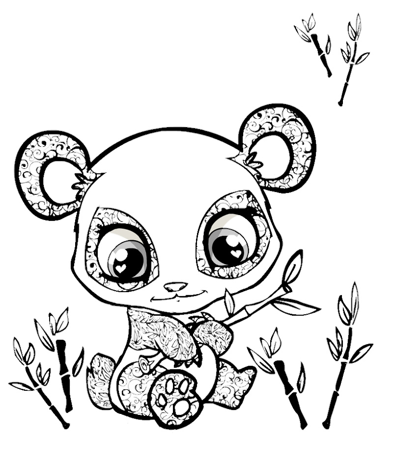 800x943 Panda Coloring Pages