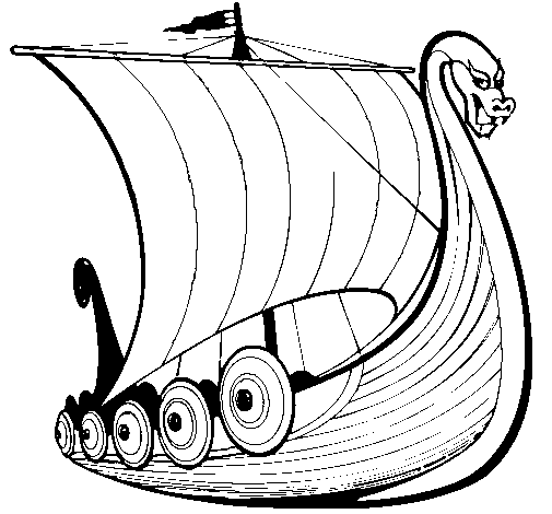 505x470 Viking Ship Clipart Coloring Page
