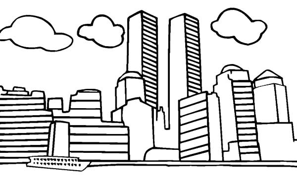600x395 World Trade Center Patriots Day Coloring Pages Best Place To Color