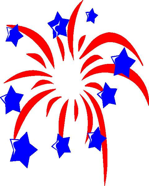 480x600 America Clipart Firework