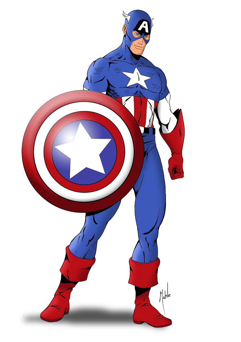 Captain america superhero. Collection of clipart free